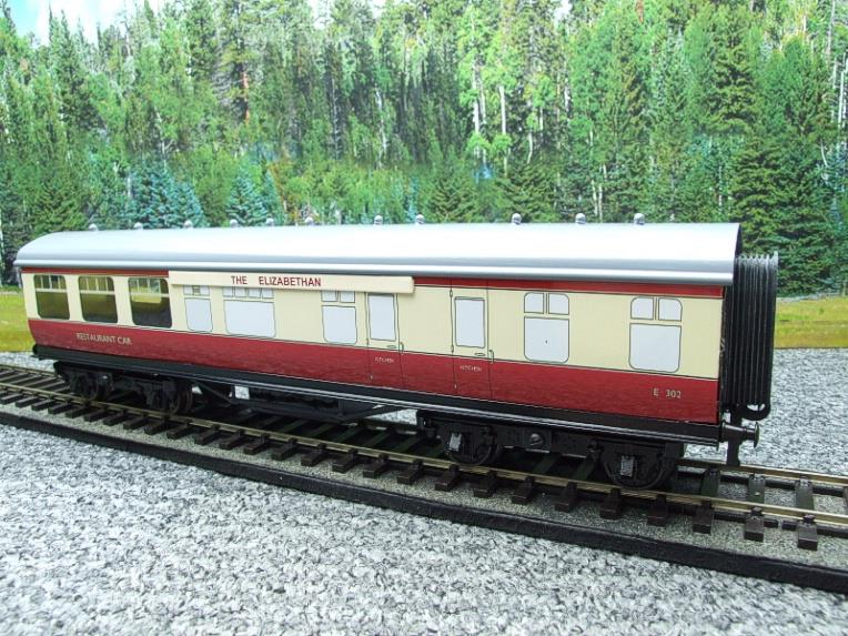 "Ace Trains O Gauge C5 BR ""The Elizabethan"" Restaurant Buffet Coach R/N E302 Boxed image 15"
