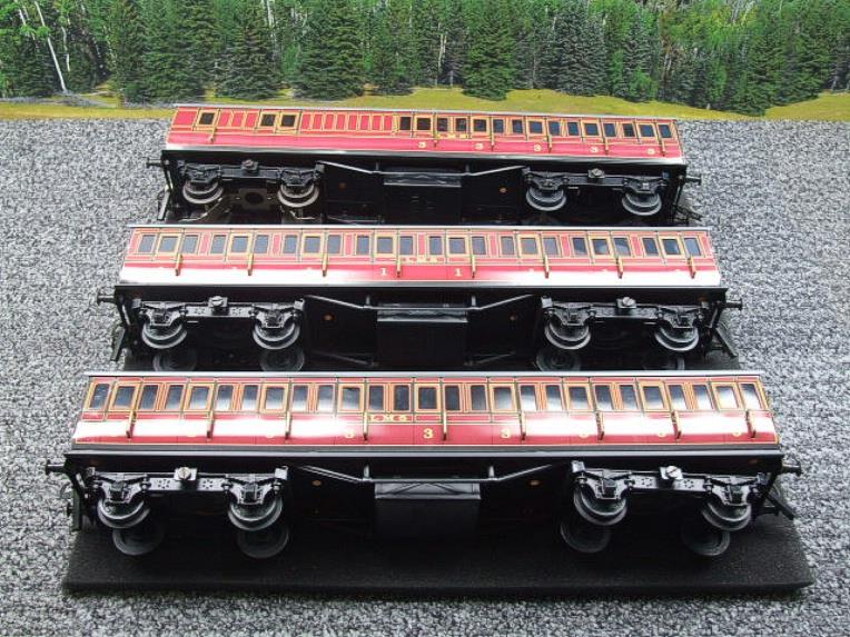 Ace Trains O Gauge C1 LMS x3 Clerestory Roof Passenger Coaches Set Boxed image 12