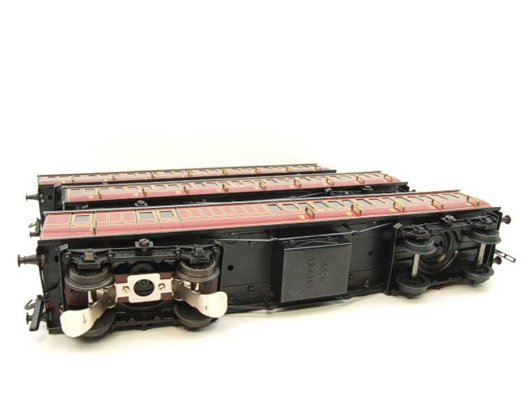 Ace Trains O Gauge C1 LMS x3 Clerestory Roof Passenger Coaches Set Boxed image 14