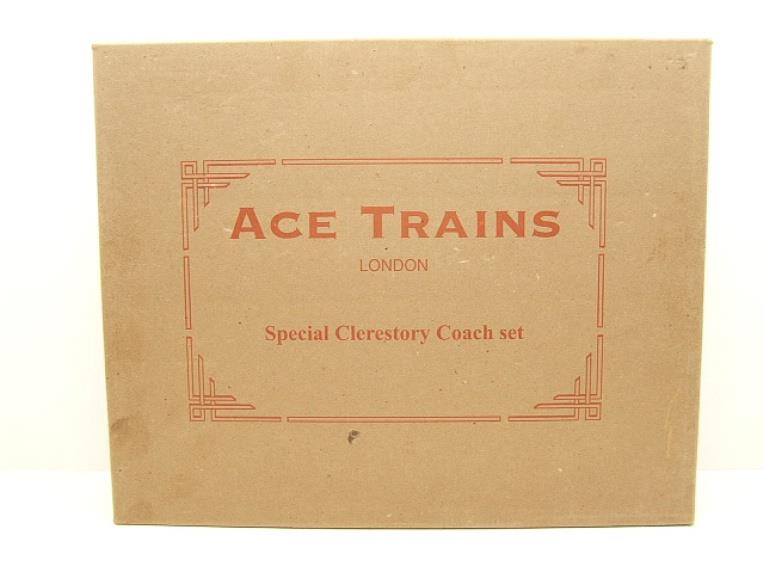 Ace Trains O Gauge C1 LMS x3 Clerestory Roof Passenger Coaches Set Boxed image 16