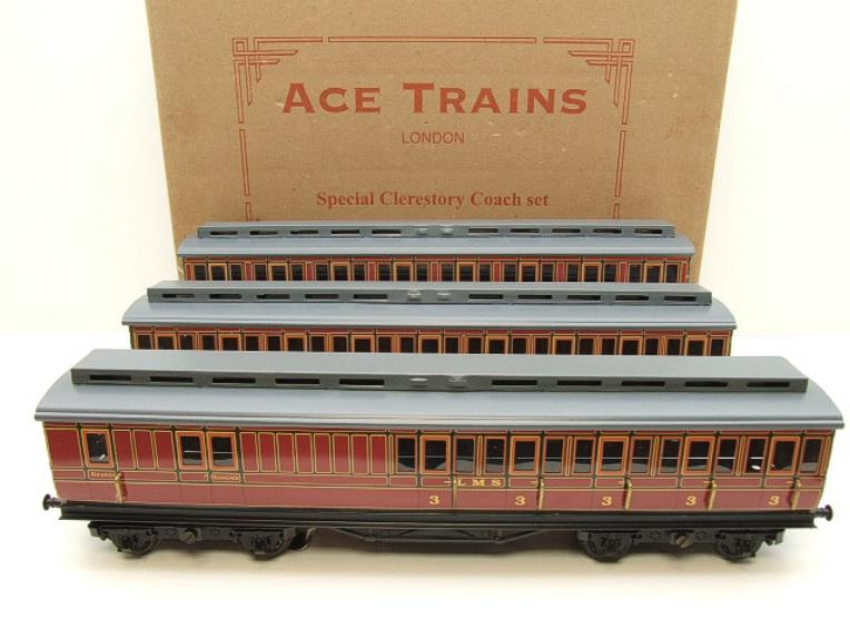 Ace Trains O Gauge C1 LMS x3 Clerestory Roof Passenger Coaches Set Boxed image 20