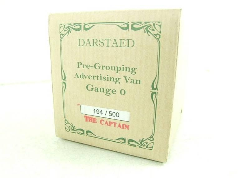 "Darstaed O Gauge GW ""Captain"" 4 Wheel Advertising Van R/N 8384 Brand New Boxed image 12"