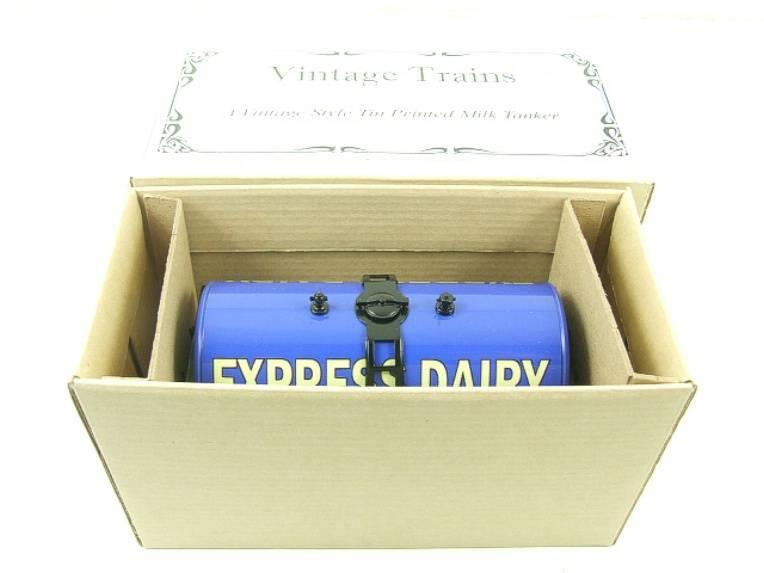 "ACE Trains - Darstaed O Gauge Blue ""Express Dairy Milk"" Tanker Wagon Boxed image 11"
