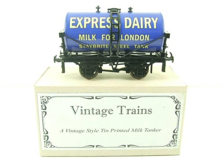 "ACE Trains - Darstaed O Gauge Blue ""Express Dairy Milk"" Tanker Wagon Boxed image 13"