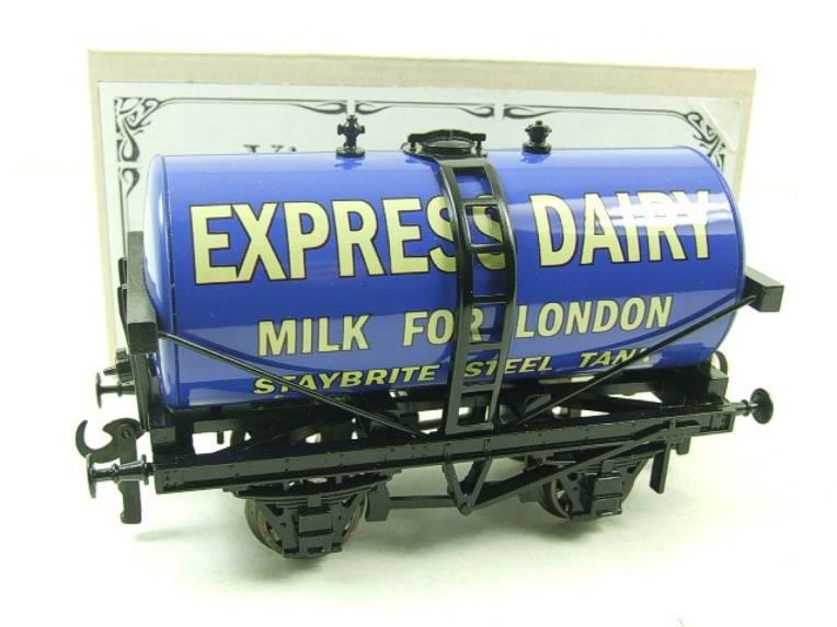 "ACE Trains - Darstaed O Gauge Blue ""Express Dairy Milk"" Tanker Wagon Boxed image 14"