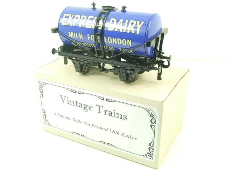 "ACE Trains - Darstaed O Gauge Blue ""Express Dairy Milk"" Tanker Wagon Boxed image 15"