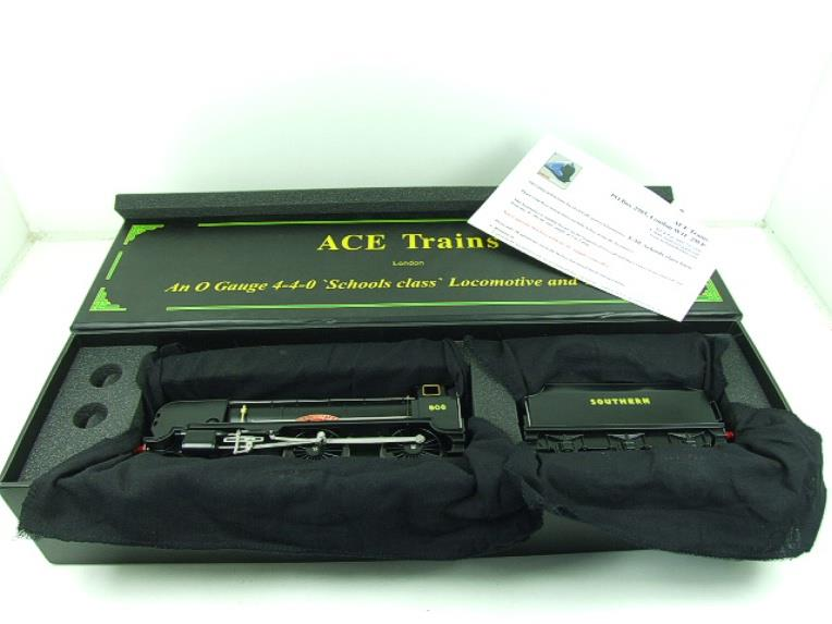 "Ace Trains O Gauge E10P SR Black Schools Class ""Westminster"" R/N 908 Electric 2/3 Rail Bxd image 19"