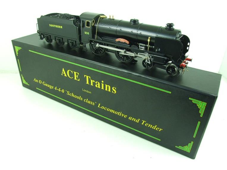 "Ace Trains O Gauge E10P SR Black Schools Class ""Westminster"" R/N 908 Electric 2/3 Rail Bxd image 21"