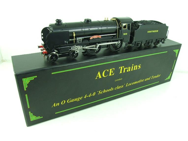 "Ace Trains O Gauge E10P SR Black Schools Class ""Westminster"" R/N 908 Electric 2/3 Rail Bxd image 22"