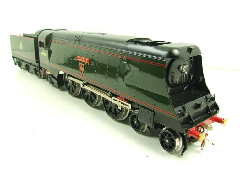 "Ace Trains O Gauge E9 Bulleid Pacific BR ""Exeter"" R/N 34001 Electric 2/3 Rail Bxd image 16"