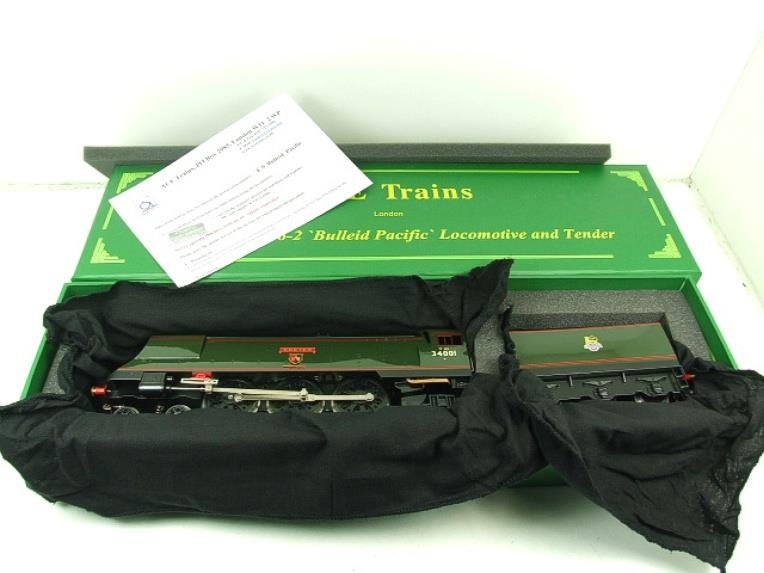 "Ace Trains O Gauge E9 Bulleid Pacific BR ""Exeter"" R/N 34001 Electric 2/3 Rail Bxd image 18"