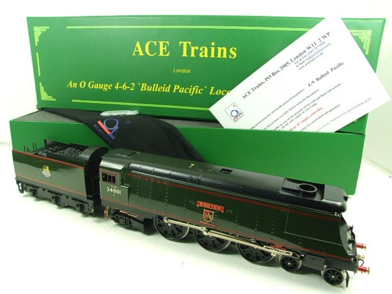 "Ace Trains O Gauge E9 Bulleid Pacific BR ""Exeter"" R/N 34001 Electric 2/3 Rail Bxd image 20"