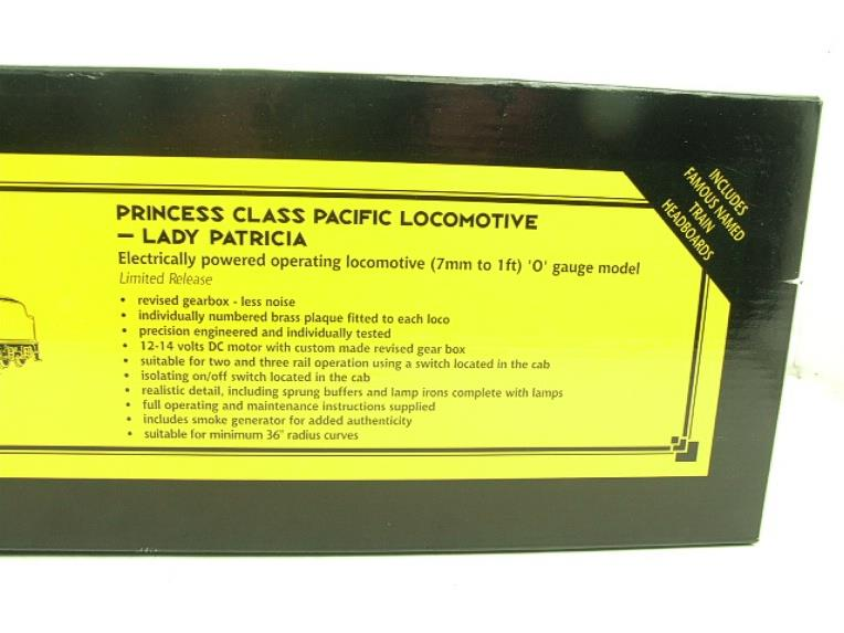 "Bassett Lowke O Gauge LMS Princess Class Pacific ""Lady Patricia"" R/N 6201 Electric 2/3 Rail Bxd image 20"