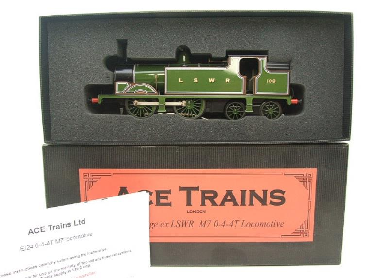 Ace Trains O Gauge E24A M7 Class LSWR Green Tank Loco 0-4-4 R/N 108 Electric 2/3 Rail Boxed image 15