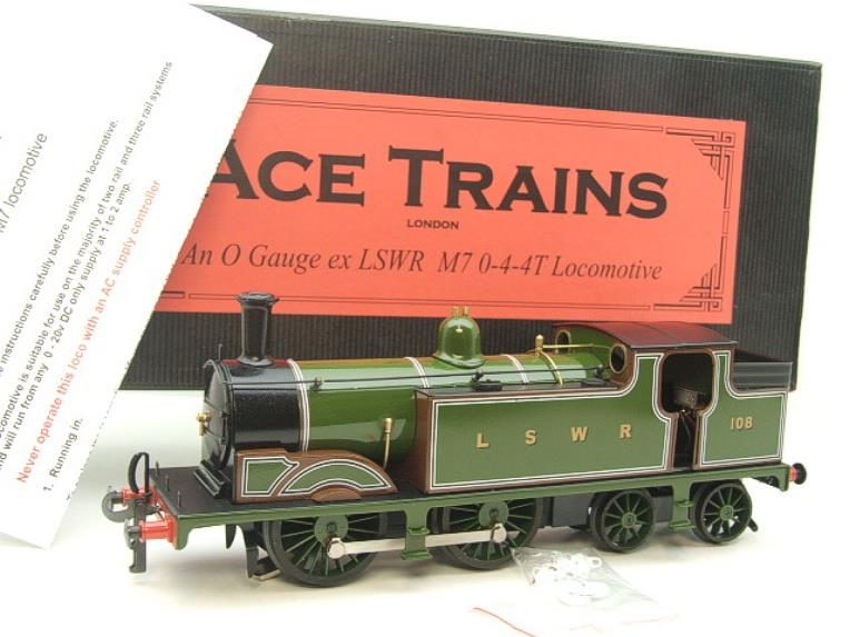 Ace Trains O Gauge E24A M7 Class LSWR Green Tank Loco 0-4-4 R/N 108 Electric 2/3 Rail Boxed image 20