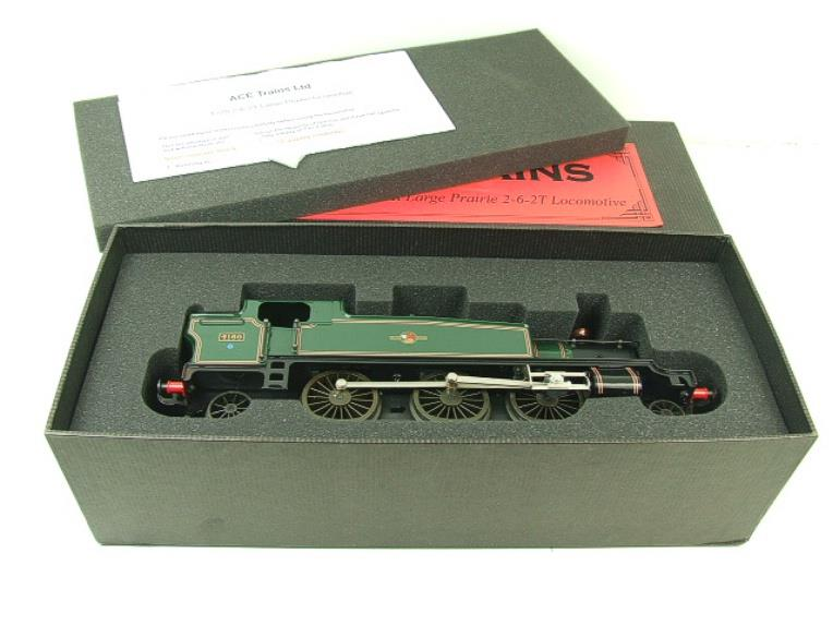 Ace Trains O Gauge E29G BR Gloss Green 2-6-2 Prairie Tank Loco R/N 4160 Electric 2/3 Rail Bxd image 15