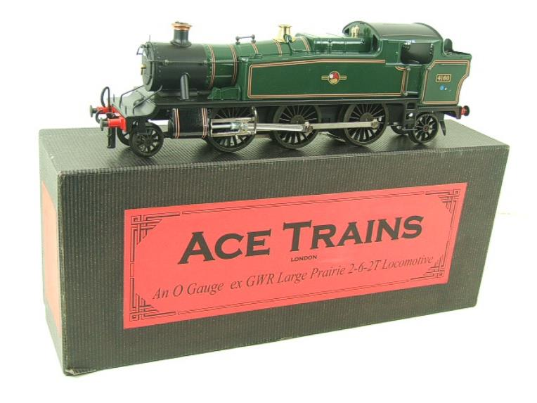 Ace Trains O Gauge E29G BR Gloss Green 2-6-2 Prairie Tank Loco R/N 4160 Electric 2/3 Rail Bxd image 17