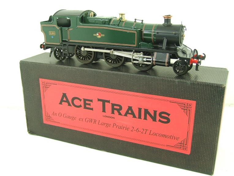 Ace Trains O Gauge E29G BR Gloss Green 2-6-2 Prairie Tank Loco R/N 4160 Electric 2/3 Rail Bxd image 18
