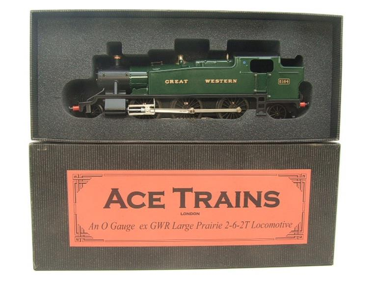 "Ace Trains O Gauge E29A GW ""Great Western"" Green 2-6-2 Prairie Tank Loco R/N 5164 Electric 2/3 Rail image 16"