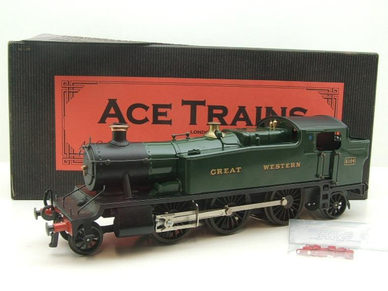 "Ace Trains O Gauge E29A GW ""Great Western"" Green 2-6-2 Prairie Tank Loco R/N 5164 Electric 2/3 Rail image 18"