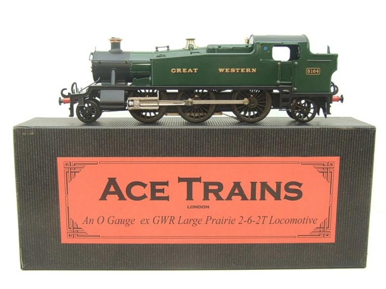 "Ace Trains O Gauge E29A GW ""Great Western"" Green 2-6-2 Prairie Tank Loco R/N 5164 Electric 2/3 Rail image 22"