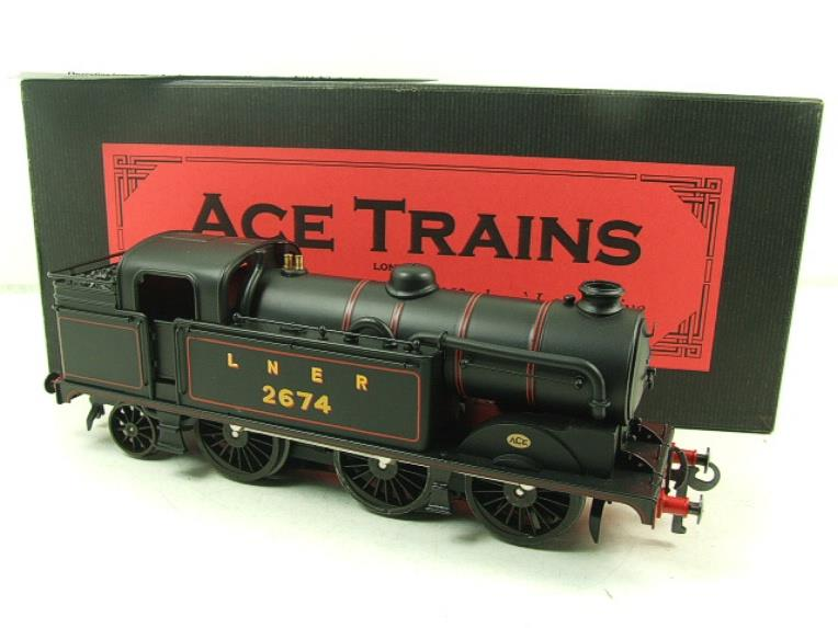 Ace Trains O Gauge E11 LNER Satin Black N2 Class 0-6-2 Tank Loco R/N 2674 Electric 2/3 Rail Boxed image 18