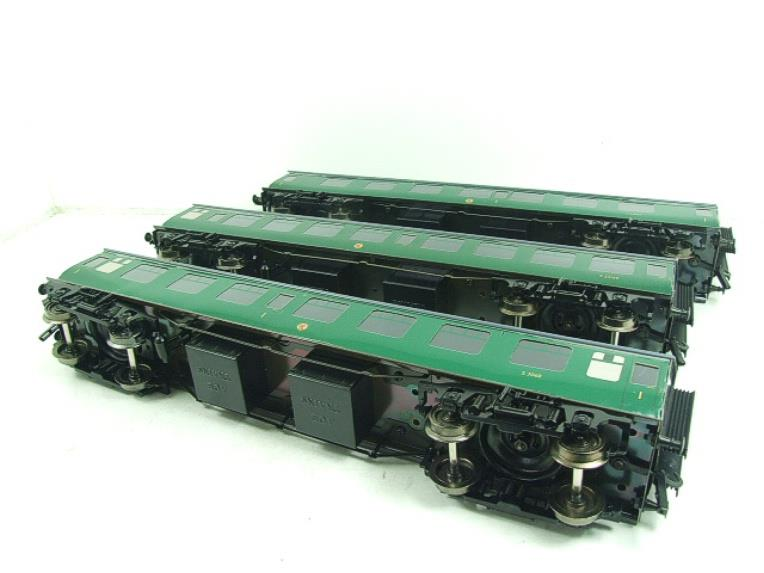 Ace Trains O Gauge C13 BR MK1 SR Southern Green Coaches x3 Set A Boxed 2/3 Rail image 16