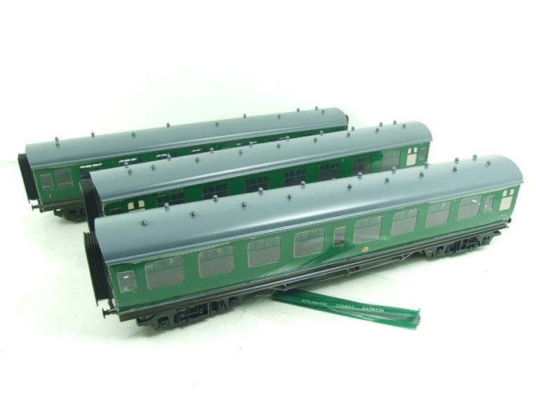 Ace Trains O Gauge C13 BR MK1 SR Southern Green Coaches x3 Set A Boxed 2/3 Rail image 19