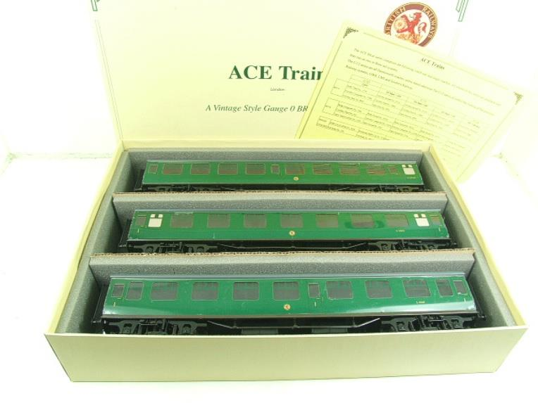 Ace Trains O Gauge C13 BR MK1 SR Southern Green Coaches x3 Set A Boxed 2/3 Rail image 20