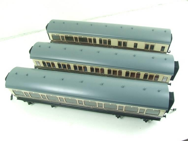 Darstaed O Gauge GWR Corridor Coaches x3 Set 2/3 Rail Bxd Set A image 12