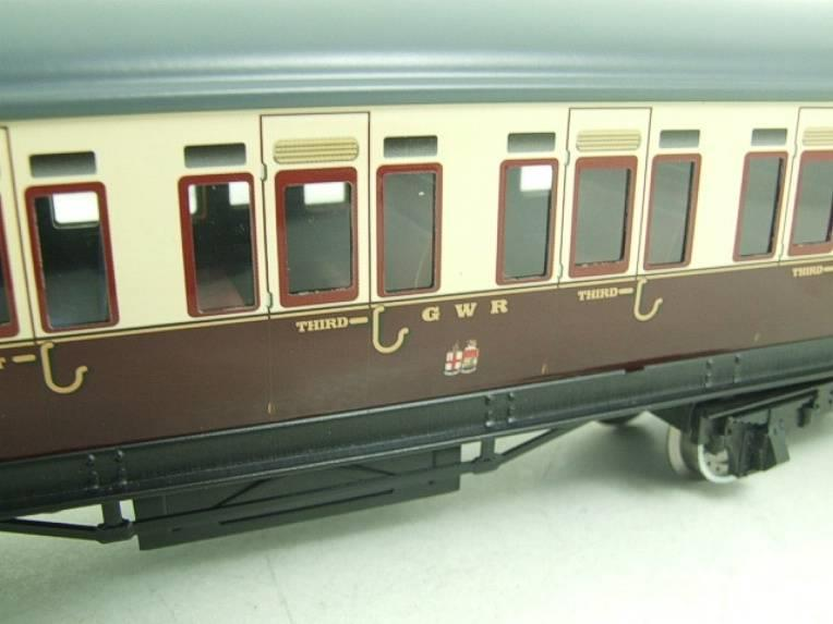 Darstaed O Gauge GWR Corridor Coaches x3 Set 2/3 Rail Bxd Set A image 14