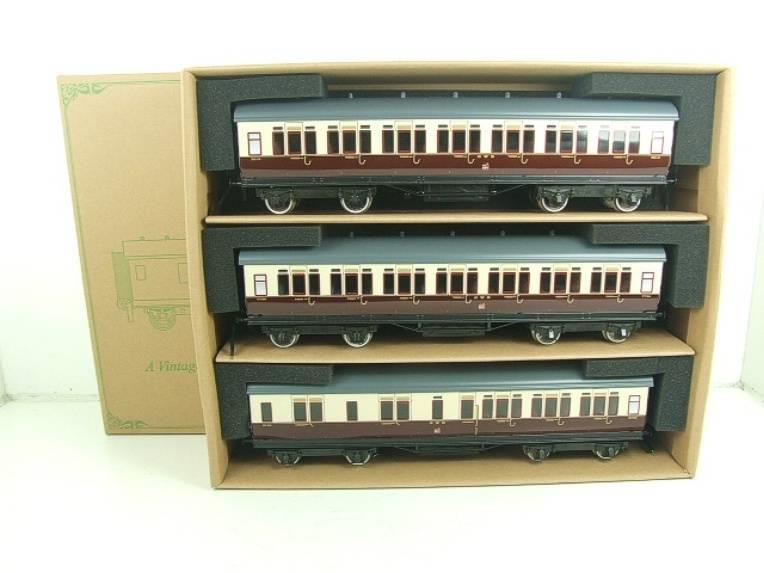 Darstaed O Gauge GWR Corridor Coaches x3 Set 2/3 Rail Bxd Set A image 18