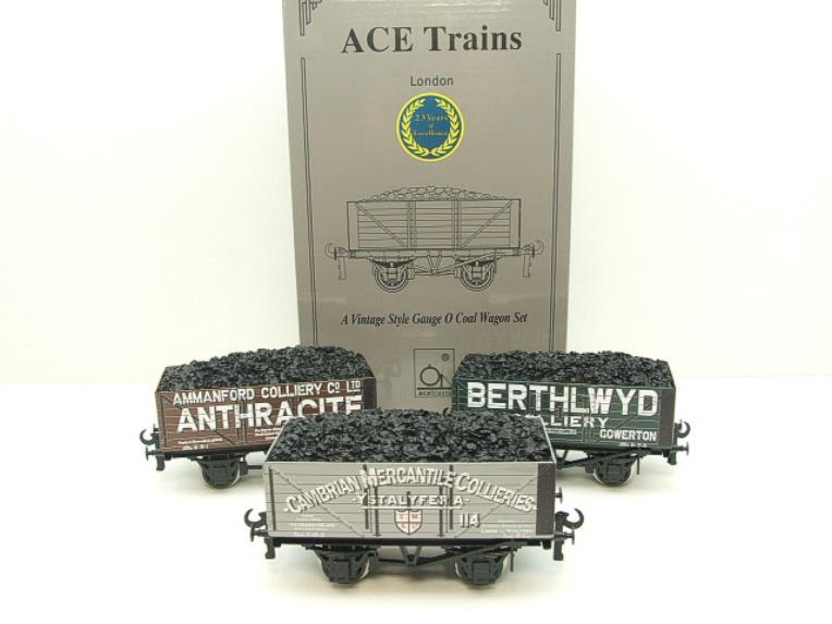 "Ace Trains O Gauge G/5 WS1 Private Owner ""South Wales"" Coal Wagons x3 Set 1 Bxd image 15"