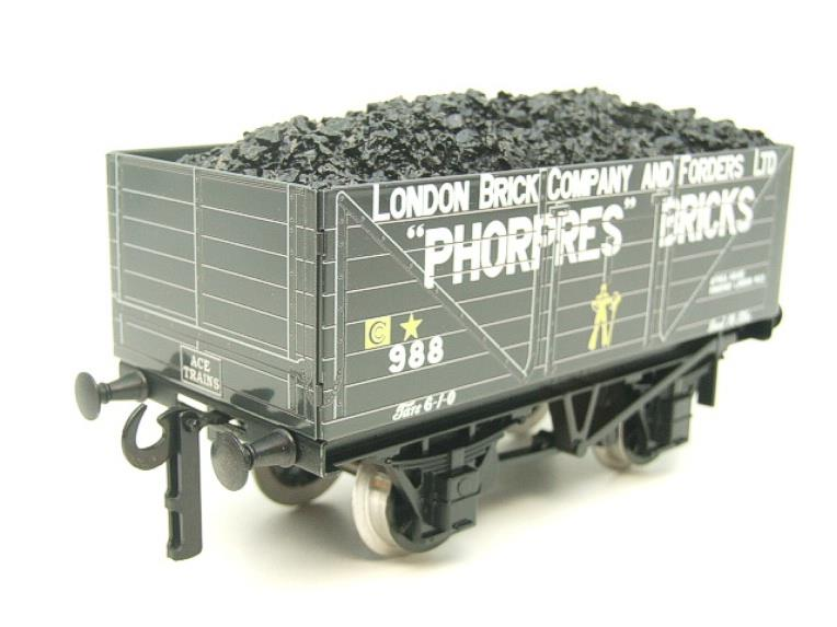 "Ace Trains O Gauge G/5 WS3 Private Owner ""London"" Coal Wagons x3 Set 3 Bxd image 11"