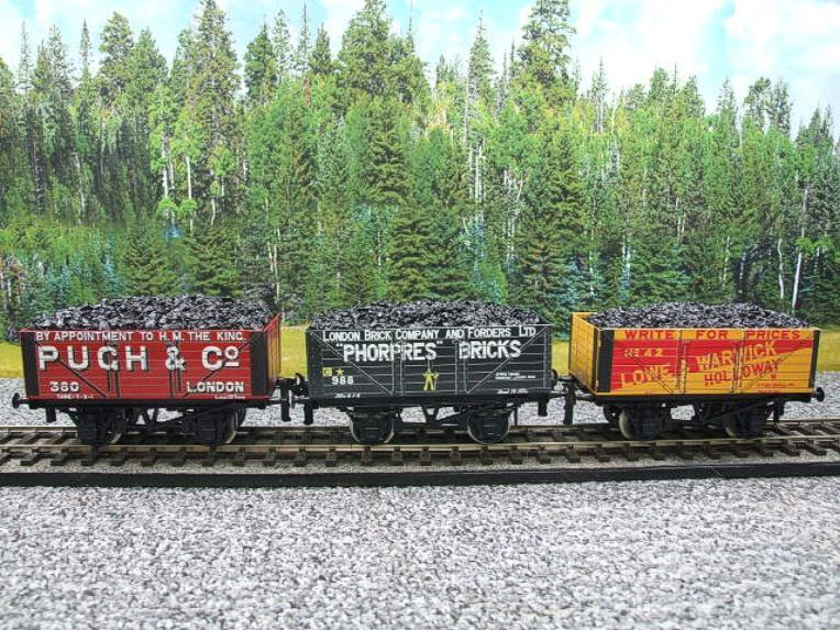 "Ace Trains O Gauge G/5 WS3 Private Owner ""London"" Coal Wagons x3 Set 3 Bxd image 15"