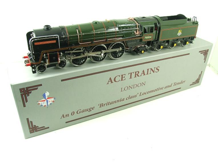 "Ace Trains O Gauge E27D BR Green Britannia Class ""William Shakespeare"" FOB Edition"" R/N 70004 Bxd image 16"