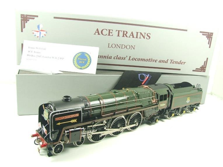 "Ace Trains O Gauge E27D BR Green Britannia Class ""William Shakespeare"" FOB Edition"" R/N 70004 Bxd image 21"