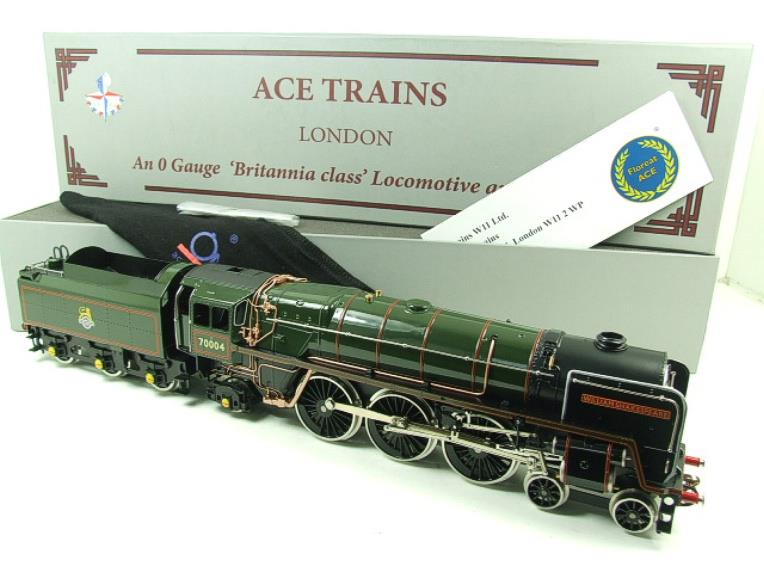 "Ace Trains O Gauge E27D BR Green Britannia Class ""William Shakespeare"" FOB Edition"" R/N 70004 Bxd image 22"