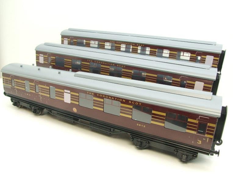 Ace Trains O Gauge C28 A & B Sets & C28K Kitchen & C28 Open 3rd LMS Maroon Coronation x8 Coaches image 11
