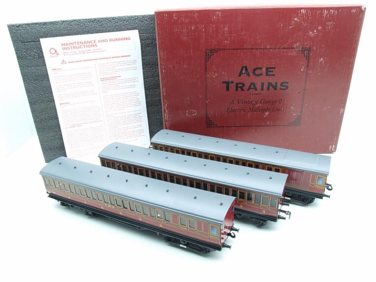 "Ace Trains O Gauge Richmond Set CIE ""LMS EMU"" Electric Multiple Unit Coach Set Electric 3 Rail Bxd image 20"