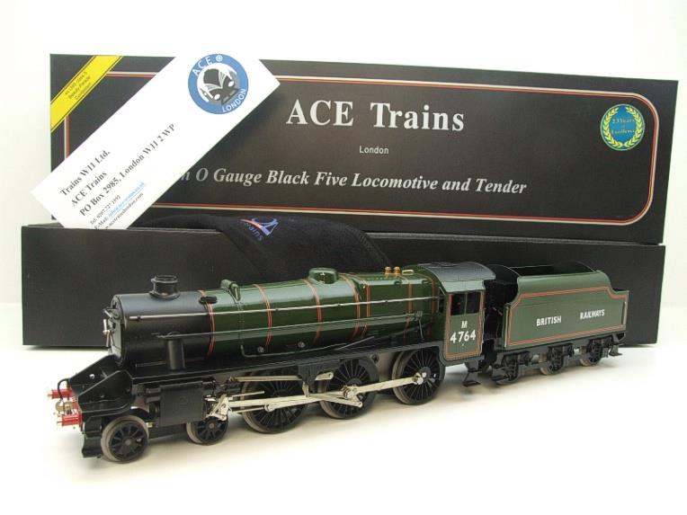 Ace Trains O Gauge E19-H BR Gloss Green Black Five Loco & Tender R/N M4764 Electric 2/3 Rail Bxd image 22