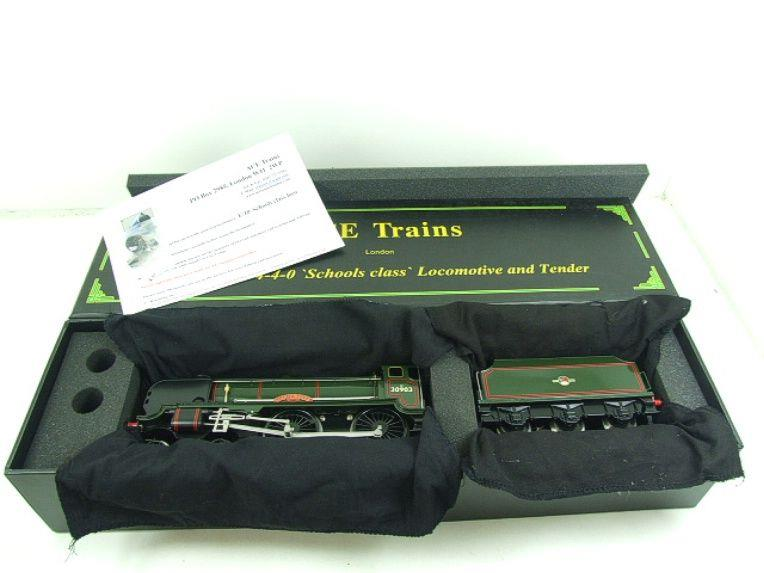 "Ace Trains O Gauge E10 BR Gloss Lined Green Schools Class ""Charterhouse"" R/N 30903 Elec 2/3 Rail Bxd image 19"