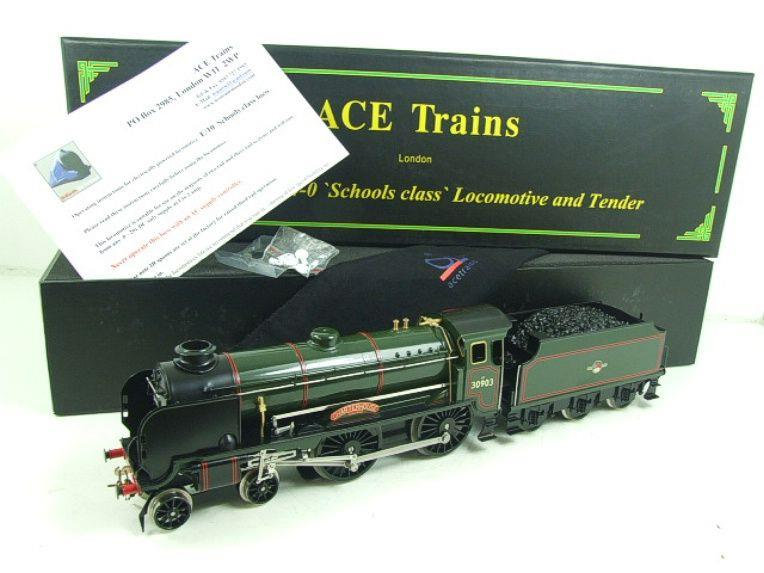 "Ace Trains O Gauge E10 BR Gloss Lined Green Schools Class ""Charterhouse"" R/N 30903 Elec 2/3 Rail Bxd image 21"