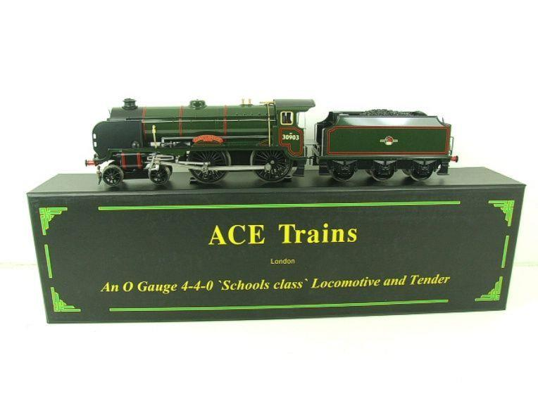"Ace Trains O Gauge E10 BR Gloss Lined Green Schools Class ""Charterhouse"" R/N 30903 Elec 2/3 Rail Bxd image 22"