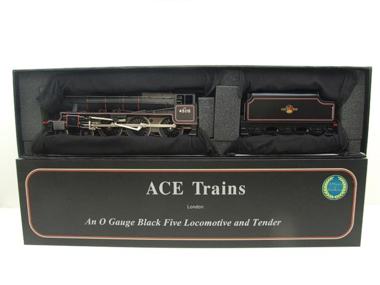Ace Trains O Gauge E19-D4 Late BR Gloss Black 5, 4-6-0 Loco & Tender R/N 45110 Elec 2/3 Rail NEW Bxd image 18