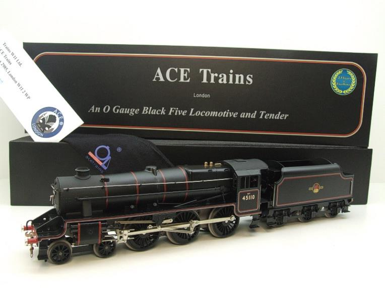 Ace Trains O Gauge E19-D4 Late BR Gloss Black 5, 4-6-0 Loco & Tender R/N 45110 Elec 2/3 Rail NEW Bxd image 22