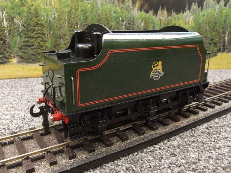 "Ace Trains O Gauge E/18-TD1 ""BR"" Early Logo"" Gloss Lined Green Early Logo Riveted Tender Brand NEW image 18"