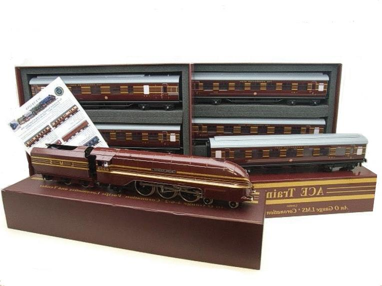 "Ace Trains E12B1 Coronation Pacific LMS Maroon ""Duchess of Hamilton & x7 Coaches Set"" Elec 2/3 Rail image 21"