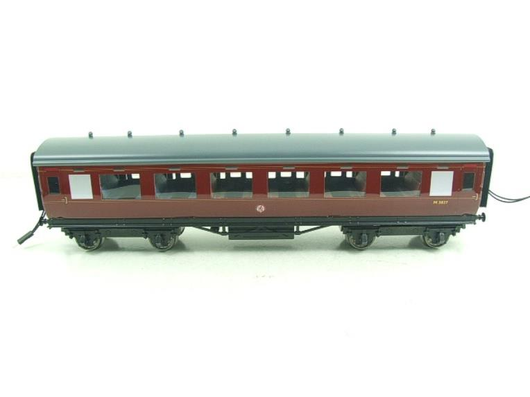 Darstaed O Gauge BR Maroon Period 2 Mainline Coaches x3 Set Bxd 2/3 Rail Set A image 11