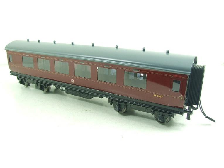 Darstaed O Gauge BR Maroon Period 2 Mainline Coaches x3 Set Bxd 2/3 Rail Set A image 13